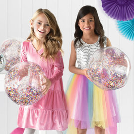 Sparkle Inflatable Ball with Glitter -4ct