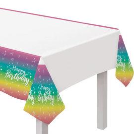 "Sparkle Plastic Table Cover- 54"" x 96"""