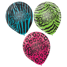 Wild Child Latex Balloons -6ct