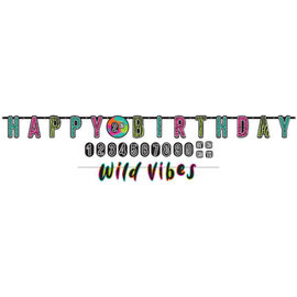 Wild Child Personalized Jumbo Letter Banner Kit