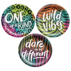 "Wild Child 7"" Round Plate, Assorted -8ct"
