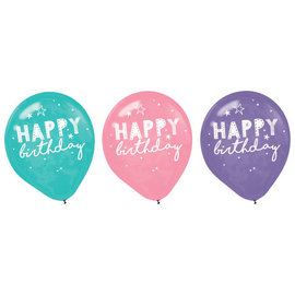 Girl-Chella Latex Balloons -6ct