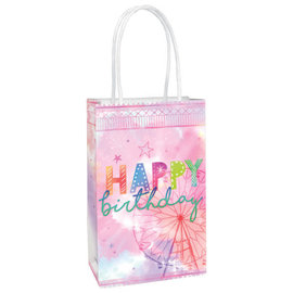Girl-Chella Printed Paper Kraft Bag -8ct