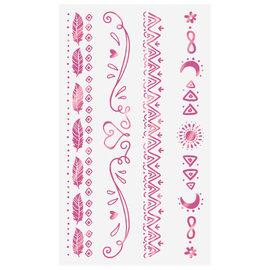 Girl-Chella Foil Tattoo Bracelets -8ct