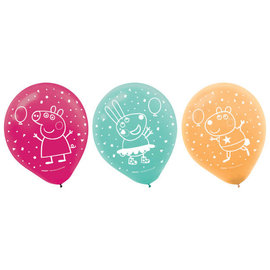 Peppa Pig Confetti Party Latex Balloons -6ct