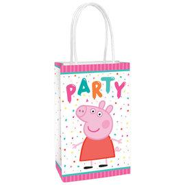 Peppa Pig Confetti Party Printed Paper Kraft Bag -8ct