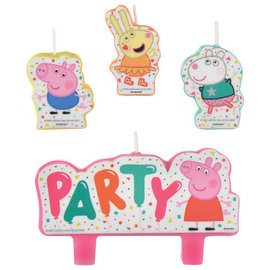Peppa Pig Confetti Party Birthday Candle Set