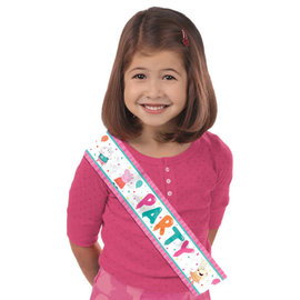 Peppa Pig Confetti Party Fabric Sash