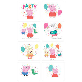 Peppa Pig Confetti Party Tattoos -8ct