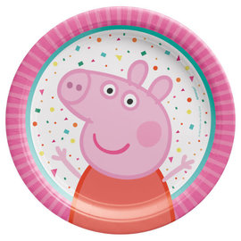 "Peppa Pig Confetti Party 7"" Round Plate -8ct"
