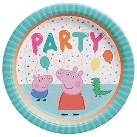 "Peppa Pig Confetti Party 9"" Round Plate -8ct"