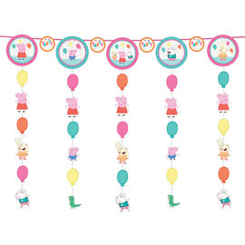 Peppa Pig Confetti Party Hanging String Decoration