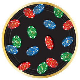 "Roll The Dice Round Plates, 7"" - 8 ct"