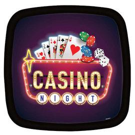 "Casino Square Platter, 13 1/2"""