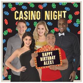 Casino Photo Prop Backdrop Kit