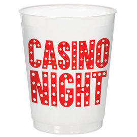 Casino Frosted Stadium Cup, 14 oz - 8 ct