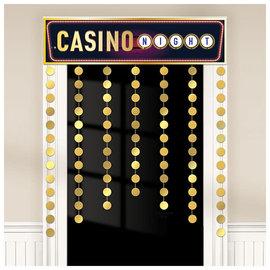 """Casino Decorative Door Curtain, 38"""" x 51"""""""