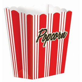 "Small Popcorn Boxes, 5 1/4"" x 3 3/4"", 8 ct"