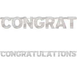 Congratulations - Large Foil Letter Banner