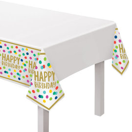Happy Dots Plastic Table Cover