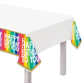 Rainbow Wishes Plastic Table Cover