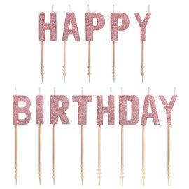 Blush Birthday Pick Candle