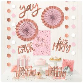 Blush Birthday Room Decorating Kit -12ct