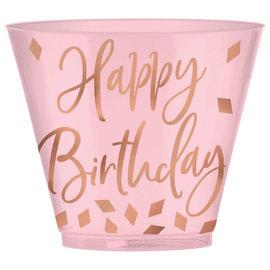Blush Birthday 9oz Plastic cup, 30ct
