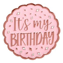 Blush Birthday Enamel Pin