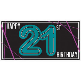 Finally 21 Horizontal Banner
