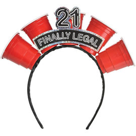 Finally 21 Shot Glass Headband