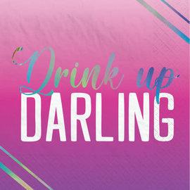 Finally 21 Hot-Stamped Beverage Napkin, Girl, 16ct