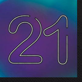 Finally 21 Luncheon Napkin, 16ct