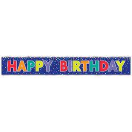 Bold Happy Birthday Foil Banner, 12'