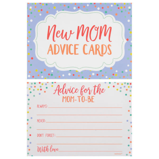Baby Shower Advice Cards, 24ct
