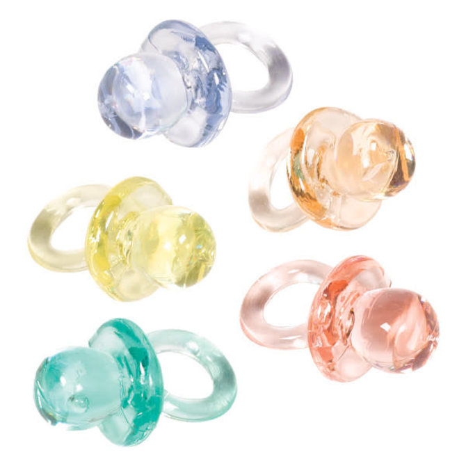 Baby Shower Mini Pacifiers, 24ct Multi