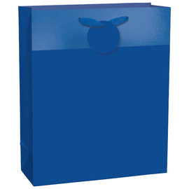Matte Large Bag w/ Hot-Stamped Band-Royal Blue, with hangtag