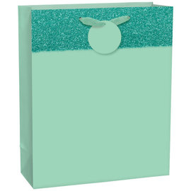 Matte Large Bag w/ Glitter Band - Mint, with hangtag