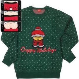 Moving Mooning Santa- Christmas Sweater