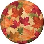 "Autumn's Elegance 7"" Lunch Plates, 45ct"