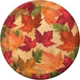 "Autumn's Elegance 7"" Lunch Plates, 45ct"