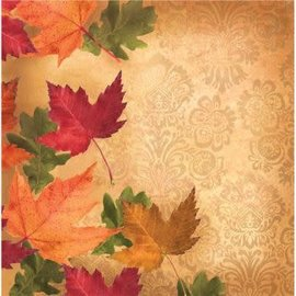 Autumn's Elegance Lunch Napkin, 90ct