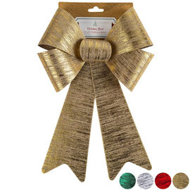 """Brushed Metal Bow - 9"""" x 15"""" Assorted Colors"""