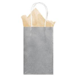 Small Paper Bag - Silver Foil