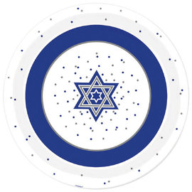 "Hanukkah Round Melamine Platter, 13 1/2"""