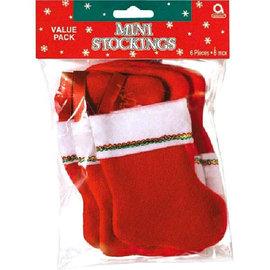 "Felt 5"" Mini Stocking Value Pack, 6 ct"