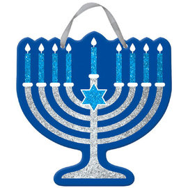 "Hanukkah Glitter Sign, 11 1/2"" x 11 1/2"""