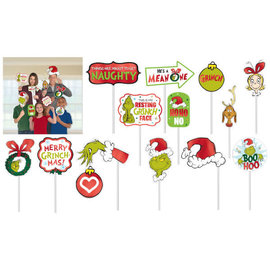 Traditional Grinch Photo Prop Kit, 13 ct