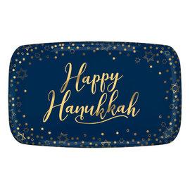 "Happy Hanukkah Rectangular Platter, 11"" x 18"""