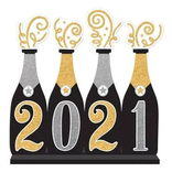 """2021 Bubbly Bottle Standing Sign- 12 1/2"""" x 12 7/8"""""""